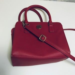 Red beautiful shoulder bag